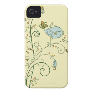 twitter bird on a tree iPhone 4 covers