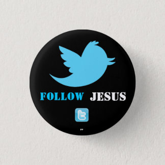 Twitter bird.png, twittericon.png, Follow , Jes... 3 Cm Round Badge