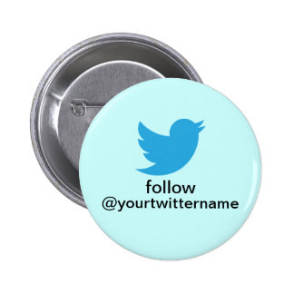 Twitter Button- Promote Yourself! 6 Cm Round Badge