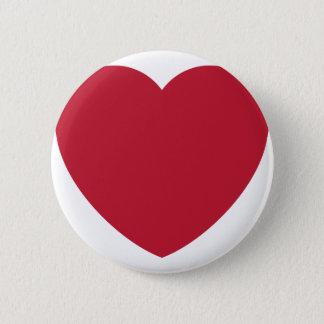 Twitter Coils Heart Emoji 6 Cm Round Badge