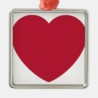 Twitter Coils Heart Emoji Metal Ornament
