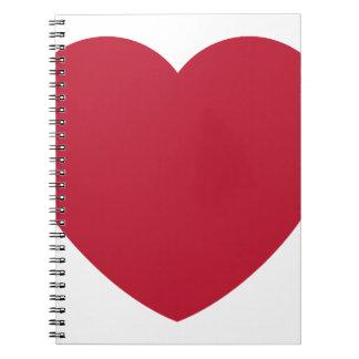 Twitter Coils Heart Emoji Notebooks