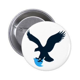 Twitter Eating Eagle 6 Cm Round Badge
