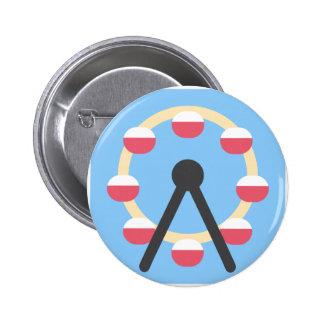 Twitter Emoji - Ferris Wheel 6 Cm Round Badge