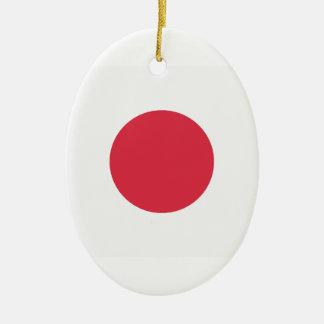 Twitter Emoji - Japan Flag Ceramic Oval Decoration