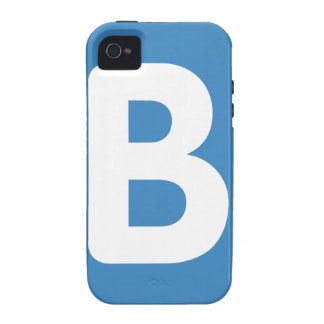 Twitter emoji - Letter B iPhone 4 Cases