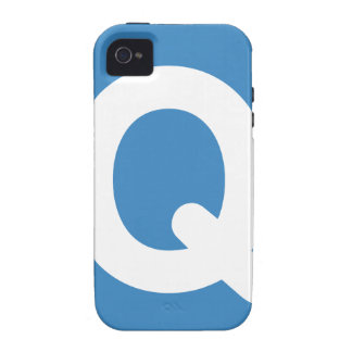 Twitter emoji letter Q Case-Mate iPhone 4 Cases