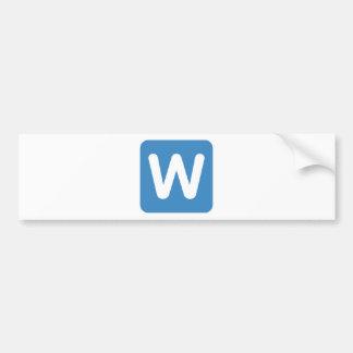 Twitter Emoji - Letter W
