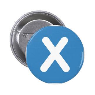 Twitter emoji - Letter X 6 Cm Round Badge