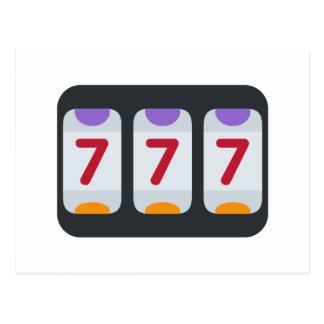Twitter Emoji - Lucky 7 Postcard