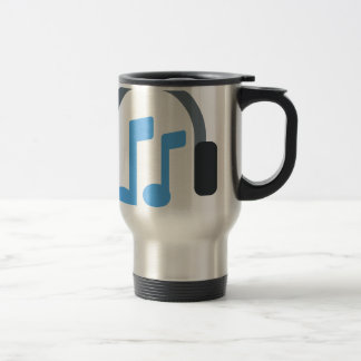 Twitter emoji - Music, Headphone Stainless Steel Travel Mug