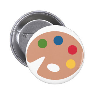 Twitter emoji - Painting Pallet 6 Cm Round Badge