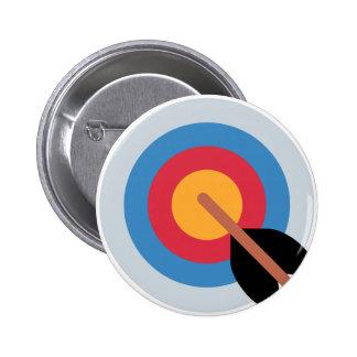Twitter Emoticon - target archery 6 Cm Round Badge