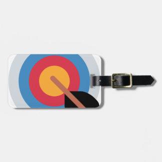 Twitter Emoticon - target archery Luggage Tag