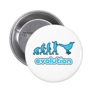 Twitter evolution 6 cm round badge