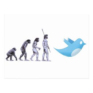 Twitter Evolution Postcard