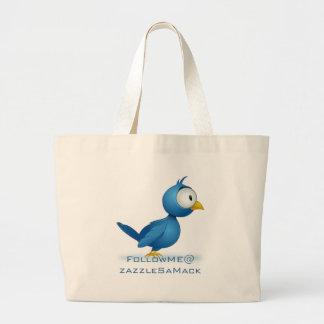 Twitter Follow Me @ Your User Name Jumbo Tote Bag