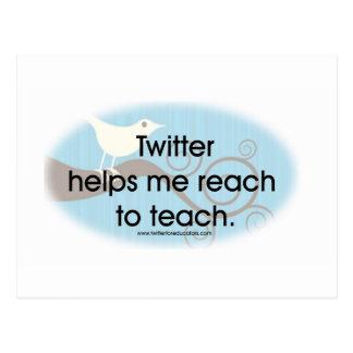 Twitter for Educators Postcard