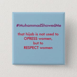 Twitter Hashtag Storm Muhammmad Showed Me 15 Cm Square Badge