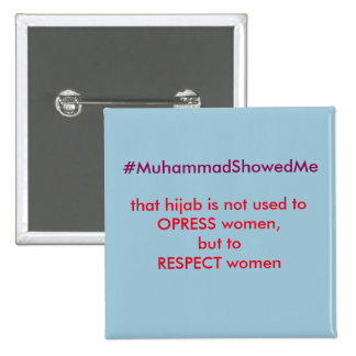 Twitter Hashtag Storm Muhammmad Showed Me 15 Cm Square Badge