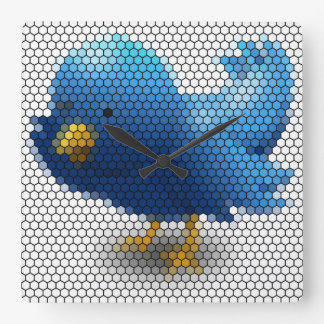 Twitter Little Bird Square Wall Clock