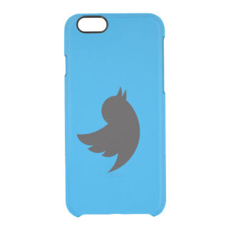 twitter logo clear iPhone 6/6S case