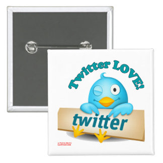 Twitter LOVE Apparel,Gifts & Collectibles 15 Cm Square Badge
