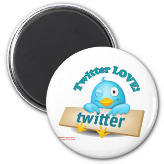 Twitter LOVE Apparel,Gifts & Collectibles 6 Cm Round Magnet