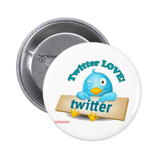 Twitter LOVE Apparel,Gifts & Collectibles Pinback Buttons