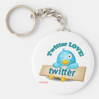 Twitter LOVE Apparel,Gifts & Collectibles Basic Round Button Key Ring