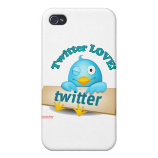 Twitter LOVE Apparel,Gifts & Collectibles Cases For iPhone 4