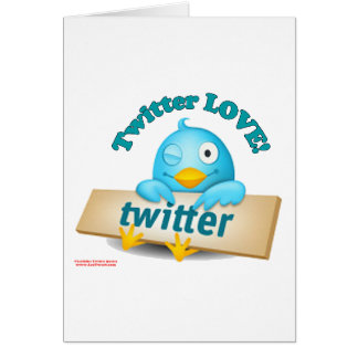 Twitter LOVE Apparel,Gifts & Collectibles Greeting Card