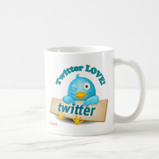 Twitter LOVE Apparel,Gifts & Collectibles Basic White Mug