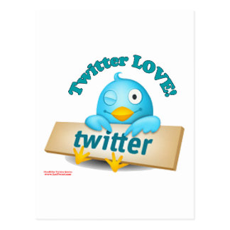 Twitter LOVE Apparel,Gifts & Collectibles Postcard