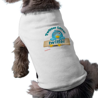 Twitter LOVE Apparel,Gifts & Collectibles Sleeveless Dog Shirt