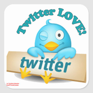 Twitter LOVE Apparel,Gifts & Collectibles Square Sticker