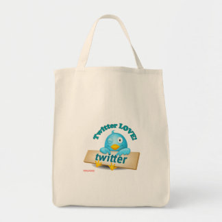 Twitter LOVE Apparel,Gifts & Collectibles Grocery Tote Bag