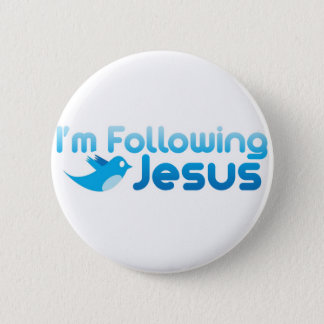 Twitter me I'm Following Jesus Christ 6 Cm Round Badge