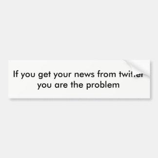 Twitter news bumper sticker