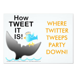 Twitter Party Invitations - How TWEET It Is!