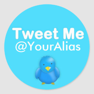 Twitter Sticker: Tweet Me @YourAlias