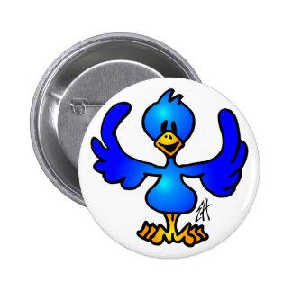 Twittering blue Bird 6 Cm Round Badge