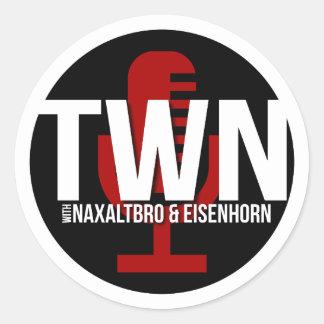 TWN Microphone Badge Classic Round Sticker