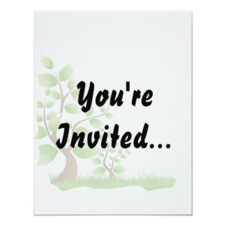 two abstract trees left corner eco design.png 11 cm x 14 cm invitation card