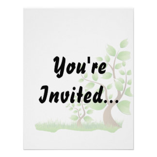 two abstract trees right corner eco design.png custom invitation