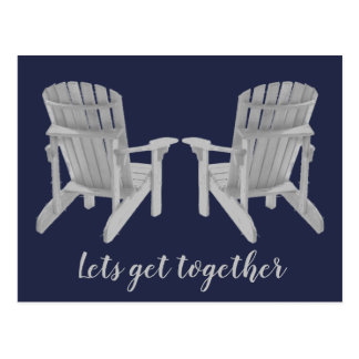 Two Adirondack chairs and your text Postcard