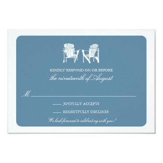 Two Adirondack Chairs RSVP 9 Cm X 13 Cm Invitation Card