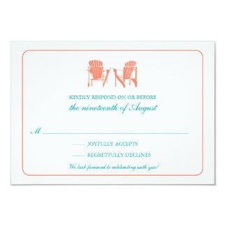 Two Adirondack Chairs RSVP 9 Cm X 13 Cm Invitation Card