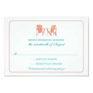 Two Adirondack Chairs RSVP Card