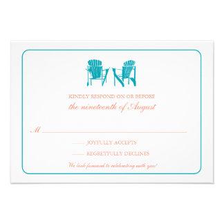 Two Adirondack Chairs RSVP Custom Invitations